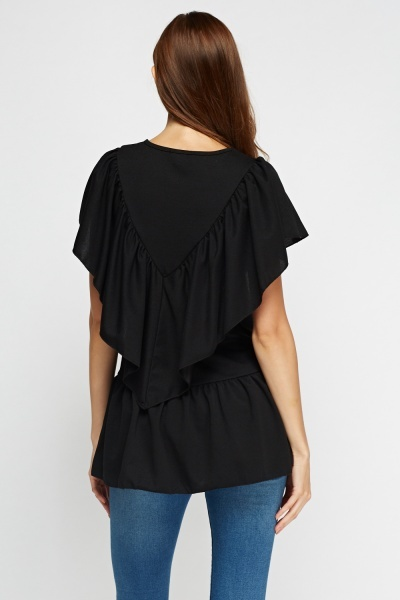 Flared Trim Casual Top