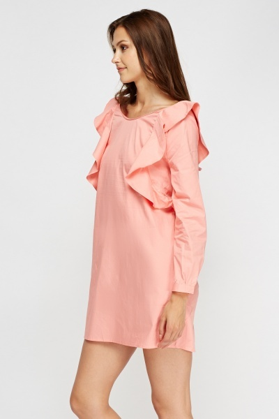 Frilled Open Back Dress