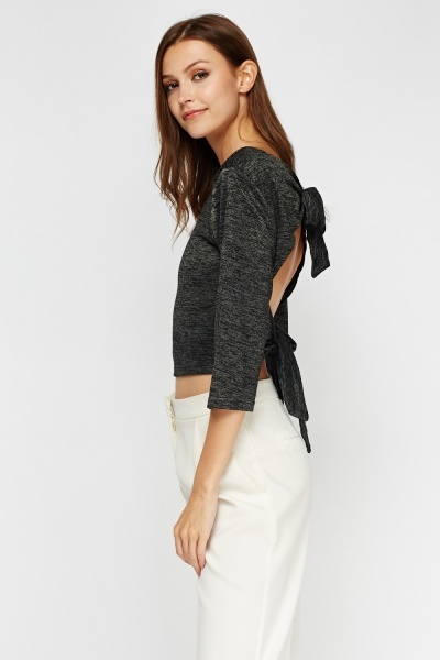 Tie Up Back Crop Top