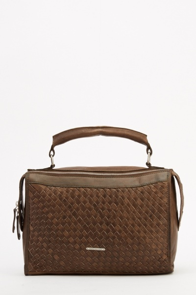 Marco Venezia Leather Elma Basket Weave Bag