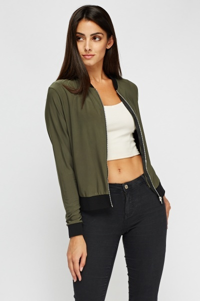 Olive Light Weight Bomber Jacket