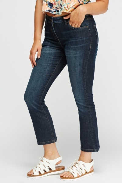 Ankle Cropped Casual Jeans