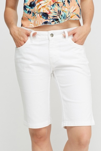 Lacoste White Denim Shorts
