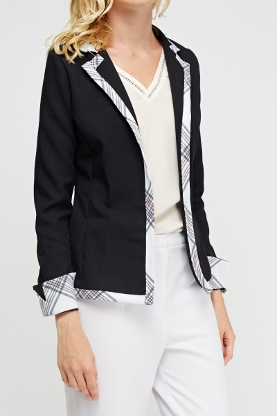 Check Trim Blazer