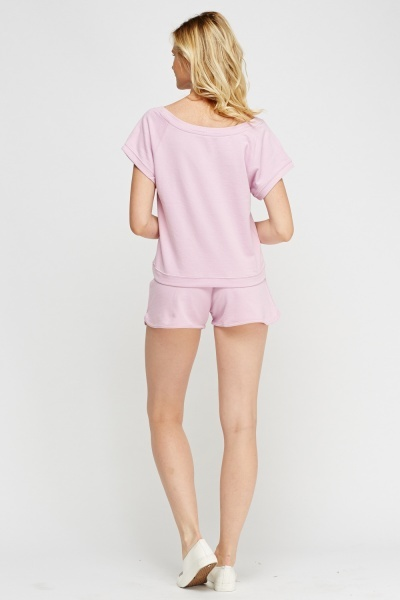 Top And Shorts Casual Set