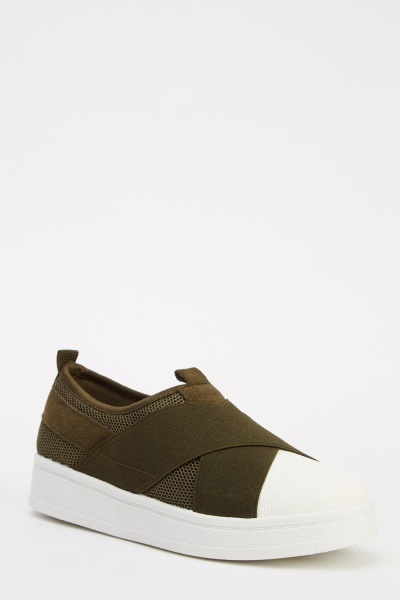 Contrasted Casual Slip On Shoes
