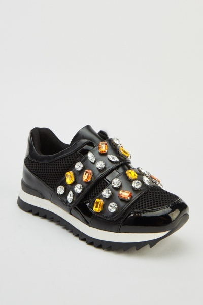 Diamante Encrusted Trainers