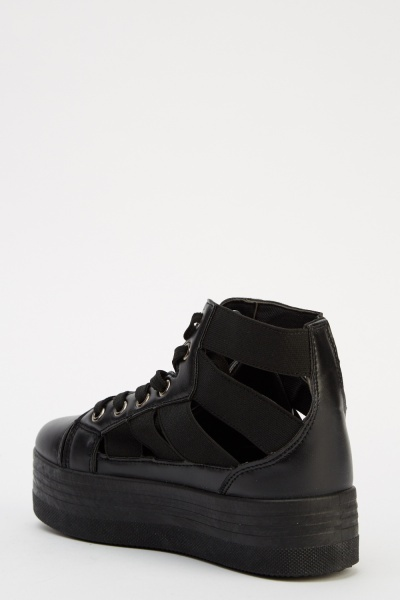 High Top Strappy Trainers