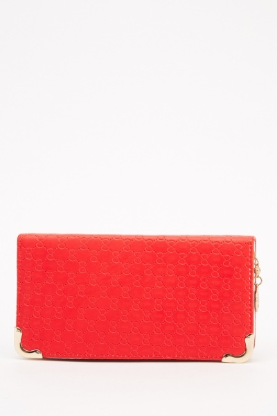 Image of Textured Faux Leather Purse