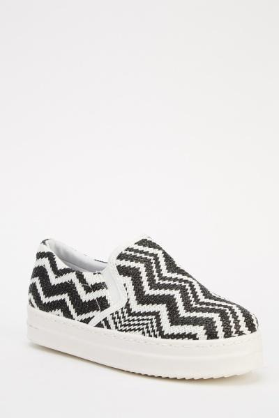 Zig Zag Woven Shoes