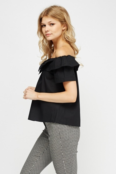 Bow Front Off Shoulder Top