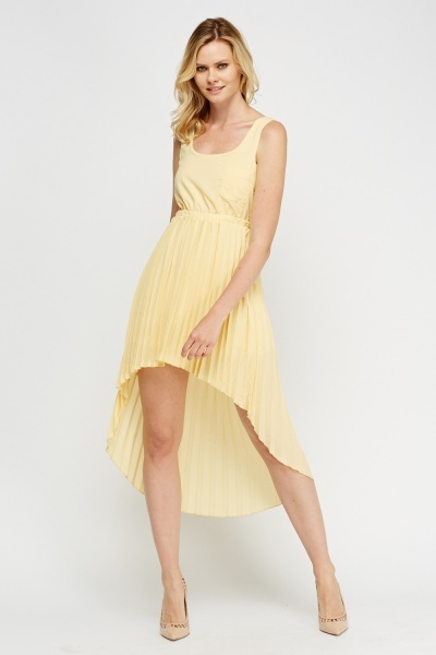 Cut Out Back Dip Hem Dress