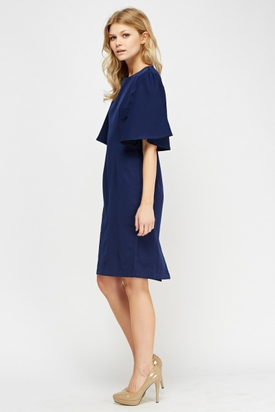 Flared Sleeve Midi Dress
