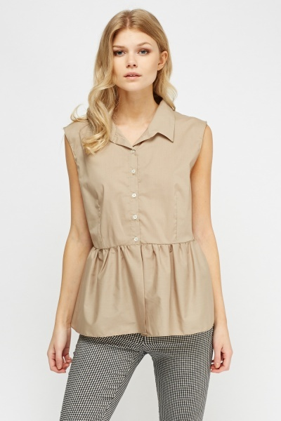 Peplum Button Up Top