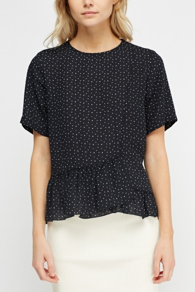 Star Printed Flared Top