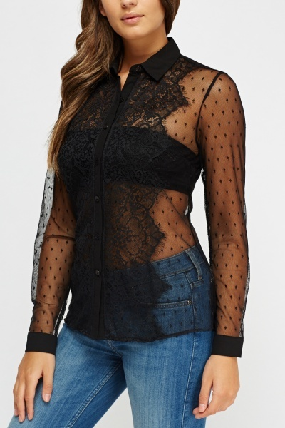 Lace Long Sleeve Blouse