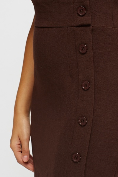 Ruched Sleeve Wrap Midi Dress