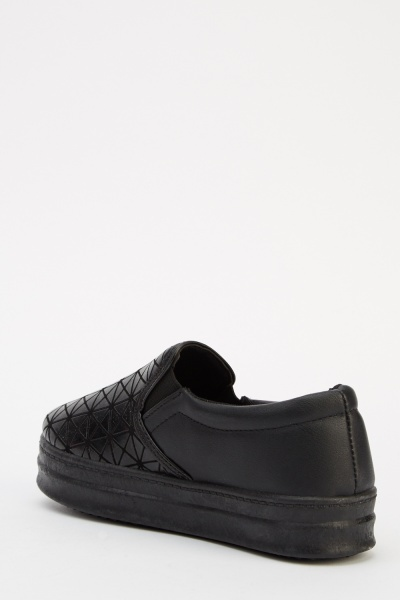 Geo Textured Slip On Shoes