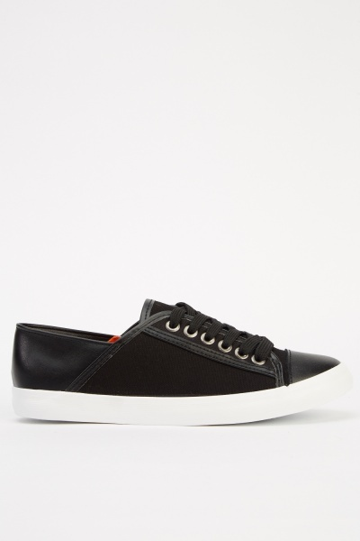 Contrast Low Top Lace Up Shoes
