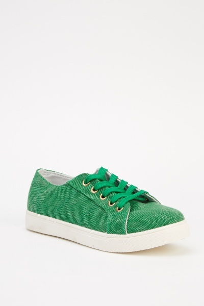 Lace Up Low Top Trainers