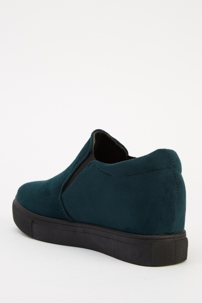 Suedette Slip On Shoes