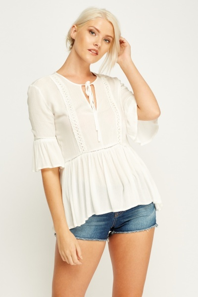 Crochet Trim Basic Top