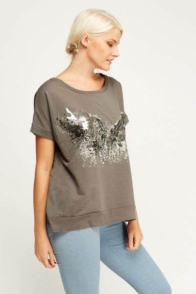 Printed Owl T-Shirt