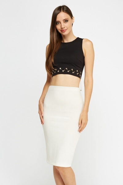 Chain Detailed Crop Top