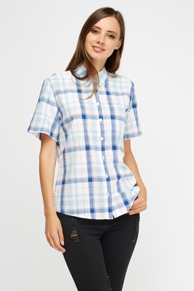 Light Blue Multi Shirt