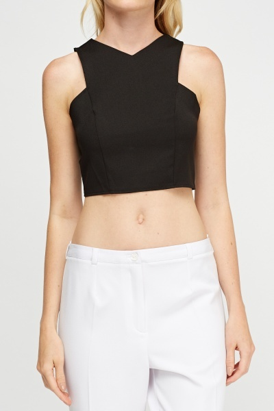 Zip Back Crop Top
