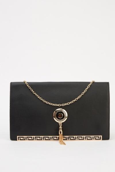 Image of Gold Embellished Clutch Bag