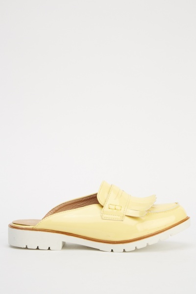 PVC Loafer Slip On Shoes