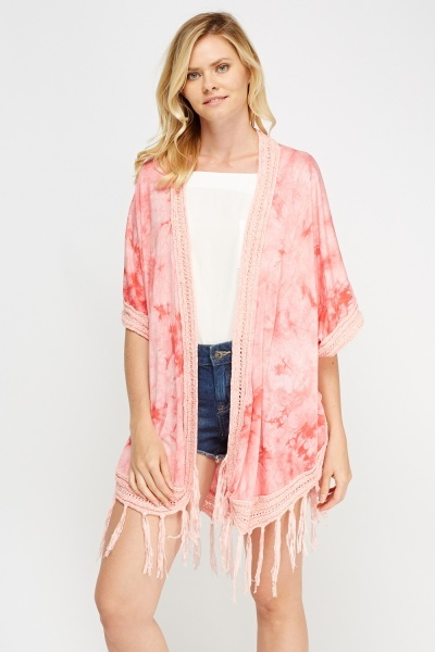 Image of Dip Dye Crochet Trim Cover Up
