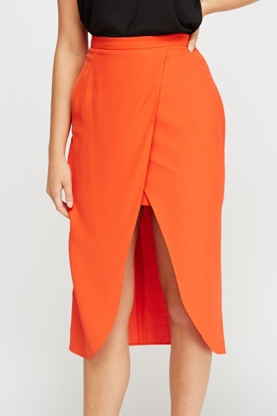 Wrapped Midi Skirt