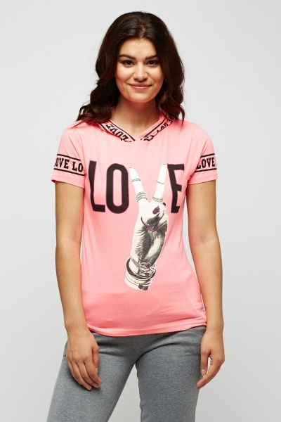 Love Printed Logo T-Shirt