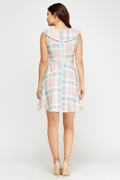 Tartan Print Cap Sleeve Dress