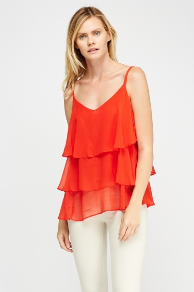 Layered Red Cami Top