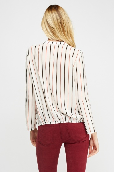 Striped Sheer Top