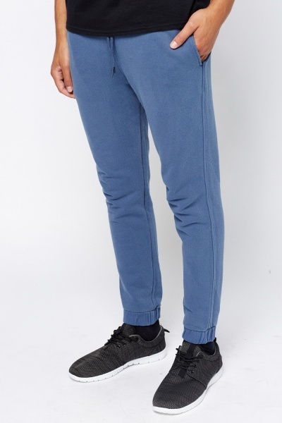 Elastic Middle Blue Joggers