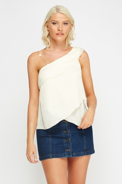 Frilled One Shoulder Top
