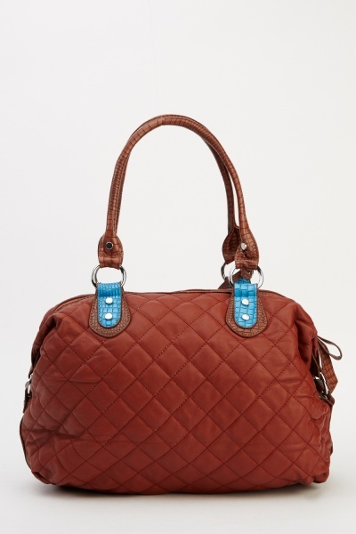 Contrast Quilted Handbag