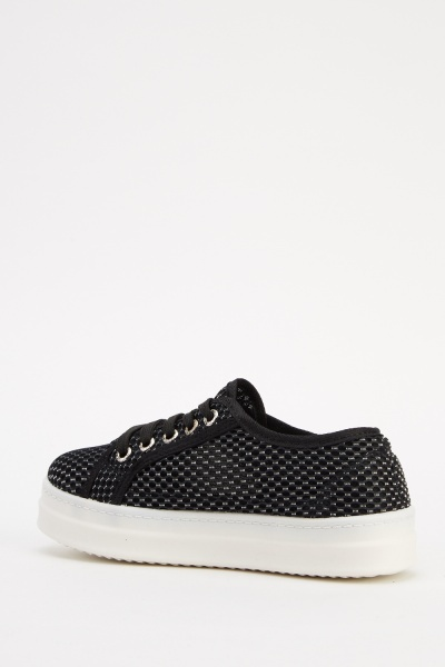 Perforated Lace Up Shoes