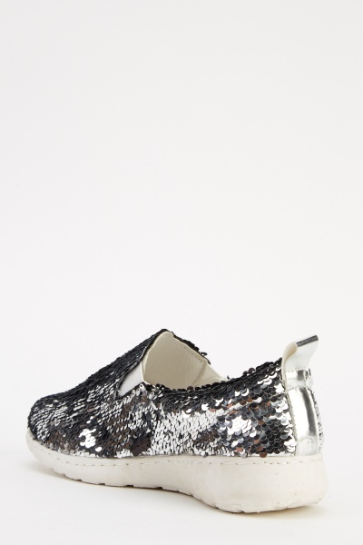 Sequin Slip On Shoes