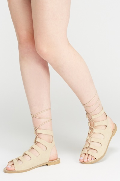 Tie Up Open Toe Sandals