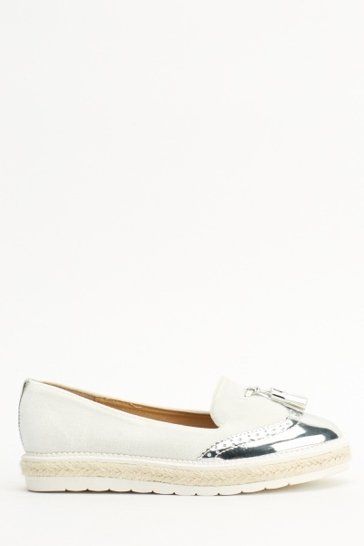 Velveteen Contrast Loafers Shoes