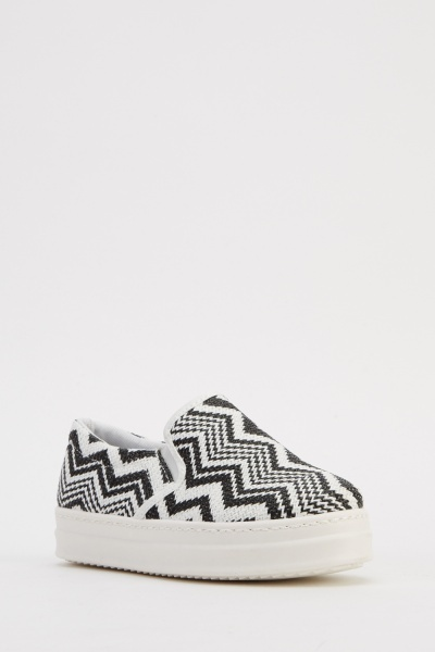 Woven Slop On Shoes