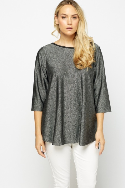 Detailed Back Metallic Insert Top