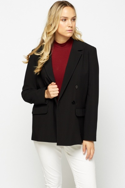 Double Breasted Black Blazer