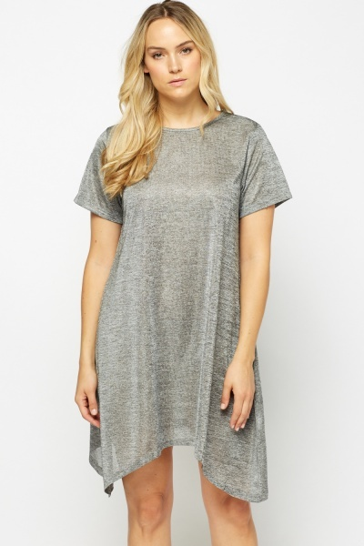 Metallic Insert Swing Dress