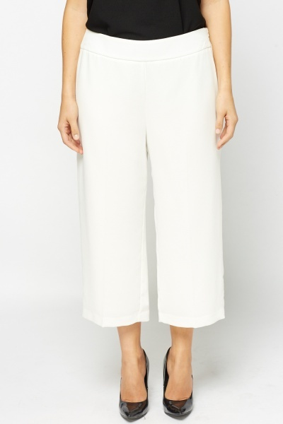 Off White Casual Culottes